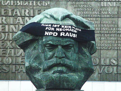 Kein Platz für Nazis - Marx Kopf
