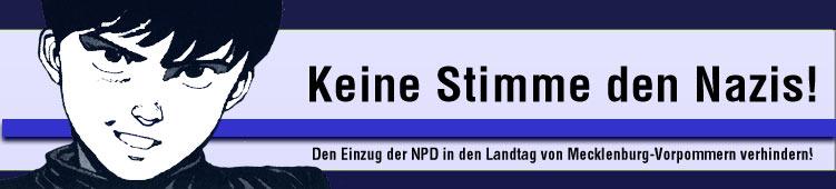 Kein Stimme den Nazis in Mecklenburg-Vorpommern