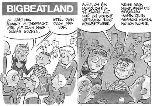 Momo beim Anti-Deutschem Stammtisch