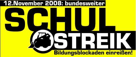 Bundesweiter Schulstreik 12. November 2008