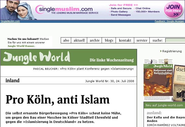 Die jungle World und der Muslim Marriage Service