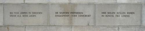 Leerstelle der alten Synagoge Dresden